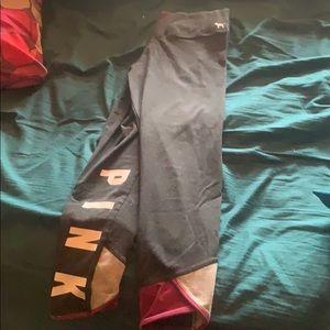 Pink Victoria's Secret yoga pants size medium